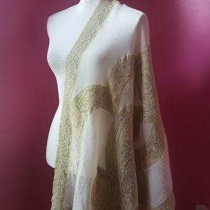 Accessories - India Wool Shawl w/Fringe